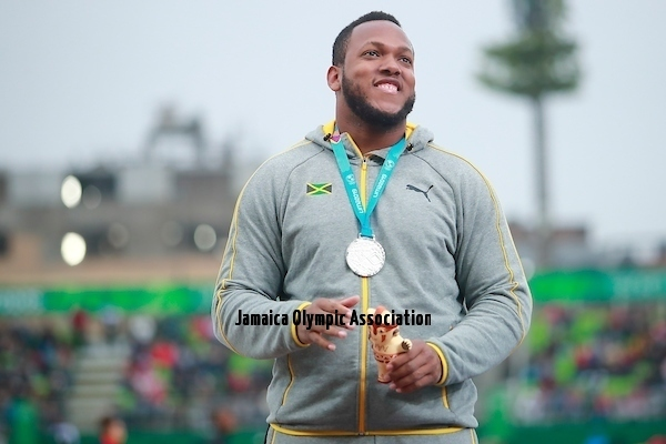 Lima, Tuesday, August 6, 2019 - Jamie Smikle from Jamaica, silver medal,  in Men's Discus Throw Final in Athletics at the Lima 2019 at Villa Deportiva Nacional - VIDENA during the Pan American Games Lima 2019. Copyright Héctor Vivas / Lima 2019  Mandatory credits: Lima 2019 ** NO SALES ** NO ARCHIVES **