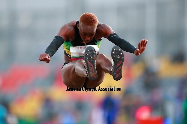 Lima, Tuesday, August 6, 2019 - Patric Hickling from Jamaica competes in Women's Long Jump Group B Decathlon in Athletics at the Lima 2019 at Villa Deportiva Nacional - VIDENA during Pan American Games Lima 2019 Copyright Héctor Vivas / Lima 2019 Mandatory credits: Lima 2019 ** NO SALES ** NO ARCHIVES **