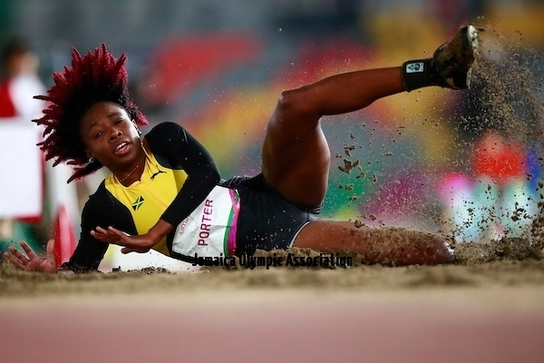 Lima, Tuesday, August 6, 2019 - Georget Porter from Jamaica competes in Women's Long Jump in Athletics at the Lima 2019 at Villa Deportiva Nacional - VIDENA during Pan American Games Lima 2019 Copyright Héctor Vivas / Lima 2019 Mandatory credits: Lima 2019 ** NO SALES ** NO ARCHIVES **