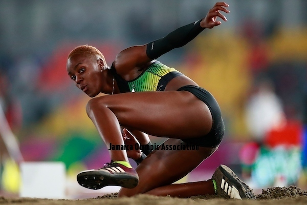 Lima, Tuesday, August 6, 2019 - Tissanna Hickling from Jamaica competes in Women's Long Jump in Athletics at the Lima 2019 at Villa Deportiva Nacional - VIDENA during Pan American Games Lima 2019 Copyright Héctor Vivas / Lima 2019 Mandatory credits: Lima 2019 ** NO SALES ** NO ARCHIVES **