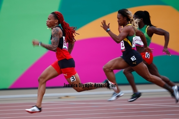 Lima, Tuesday, August 6, 2019 - Female runners star in Women's 100m Semi final in Athletics at the Lima 2019 at Villa Deportiva Nacional - VIDENA during Pan American Games Lima 2019 Copyright Marcos Brindicci / Lima 2019 Mandatory credits: Lima 2019 ** NO SALES ** NO ARCHIVES **